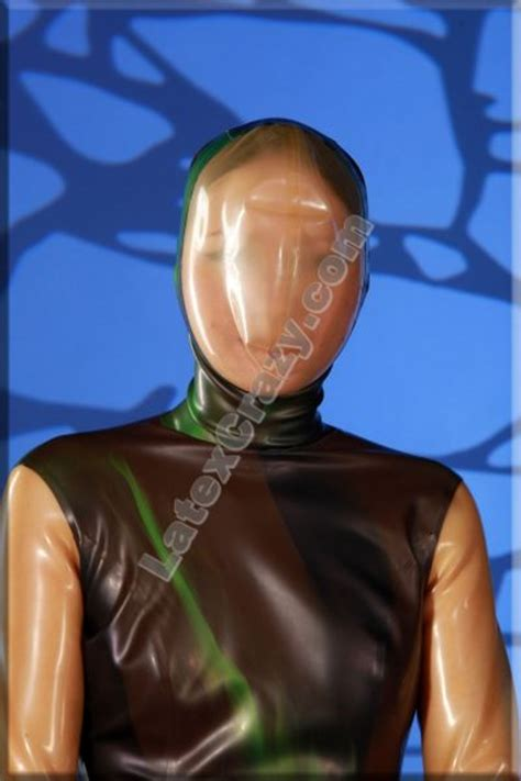 latexcrazy latex catsuit  breath play mask