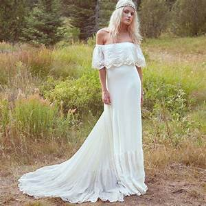 2016 autumn wedding dresses off shoulder bohemia wedding With country style dresses for wedding guests