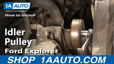 install replace noisy idler pulley ford explorer