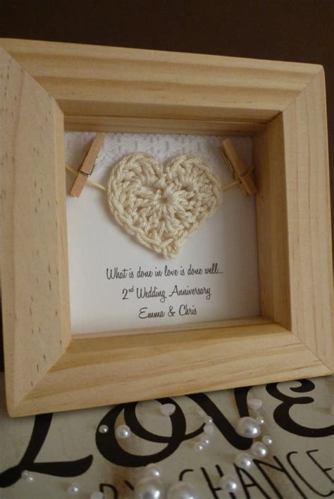 2nd wedding anniversary gift 2nd anniversary gift 2nd cotton anniversary gift by timeforgift