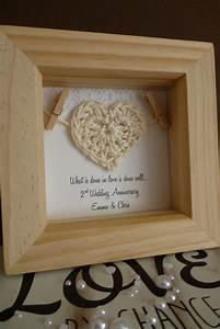 2nd anniversary gift 2nd cotton anniversary gift by With 2nd wedding anniversary gift ideas
