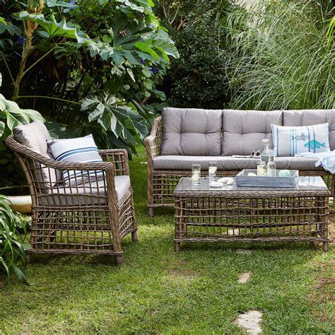 canapé d extérieur pas cher canapé d 39 extérieur 3 places courbery canapé de jardin