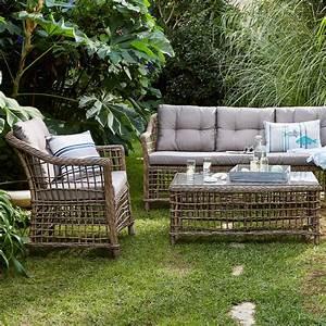 Canapé Jardin Pas Cher : canap d 39 ext rieur 3 places courbery canap de jardin ~ Premium-room.com Idées de Décoration