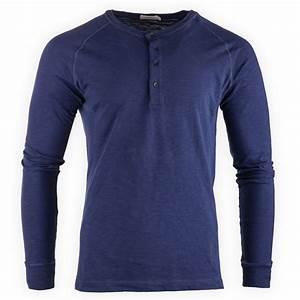 Tee Shirt Homme Manches Longues : tee shirt bleu manches longues homme calvin klein prix d griff ~ Melissatoandfro.com Idées de Décoration