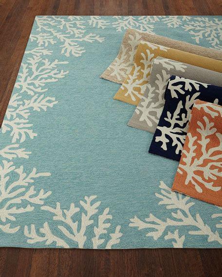 coral reef rug coral reef indoor outdoor rug 7 6 quot x 9 6 quot