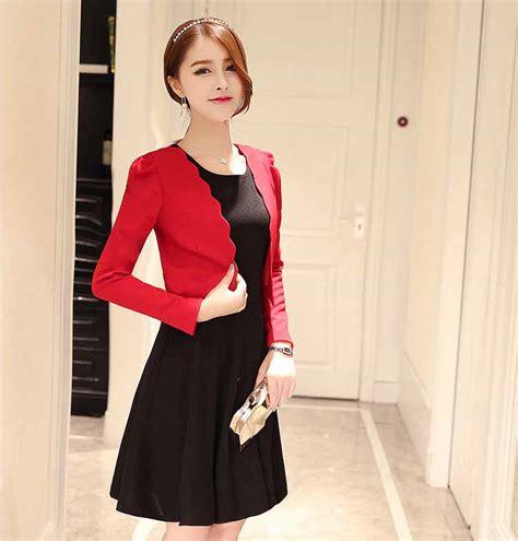 dress wanita hitam merah blazer terbaru jual model