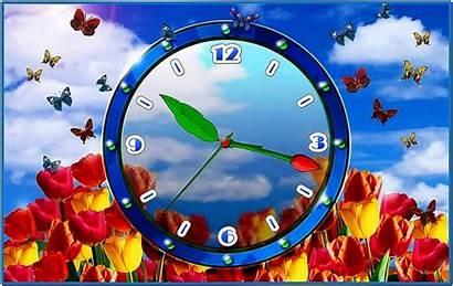 Clock Screensaver Tulip Screensavers Russia Windows Desktop