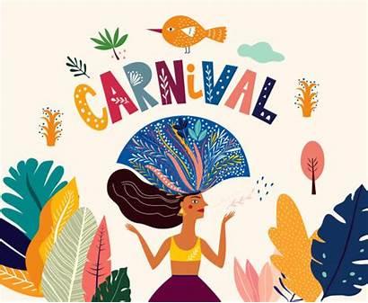Carnival Brazilian Vector Illustrations Brazil Illustration Clip
