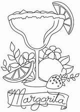 Coloring Margarita Embroidery Patterns Awesome Drawings Unique Urban Threads Hour Cocktail Drawing Machine Urbanthreads sketch template