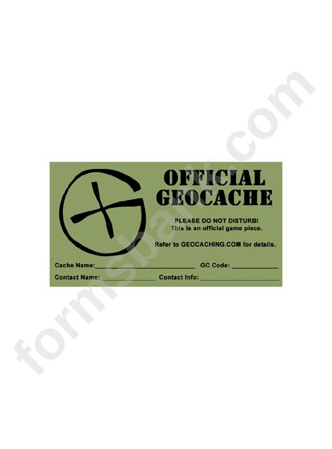 label templates official geocache printable