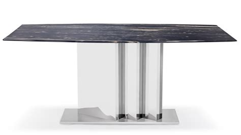 nero modern dining table  black marble top