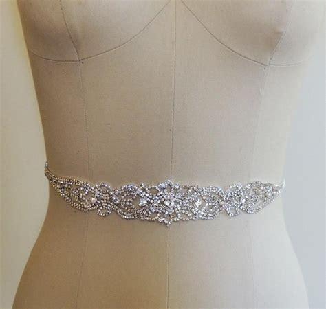 crystal beaded bridal belt sash rhinestone wedding gown