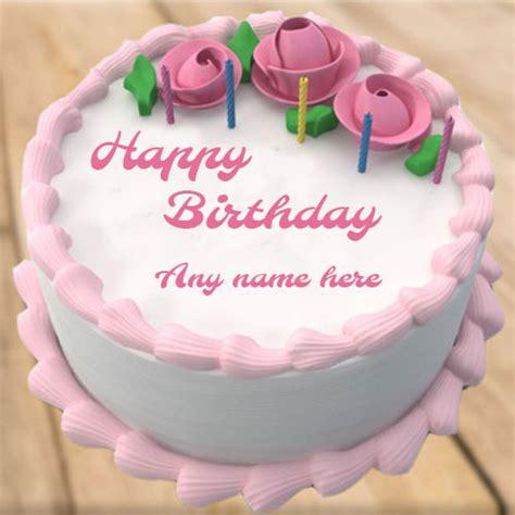 write    rose flower birthday cake
