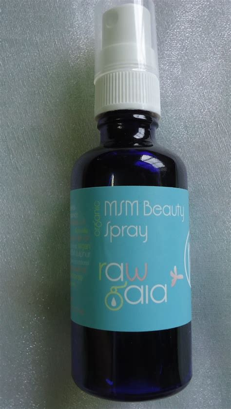 raw gaia msm beauty spray review  love makeup