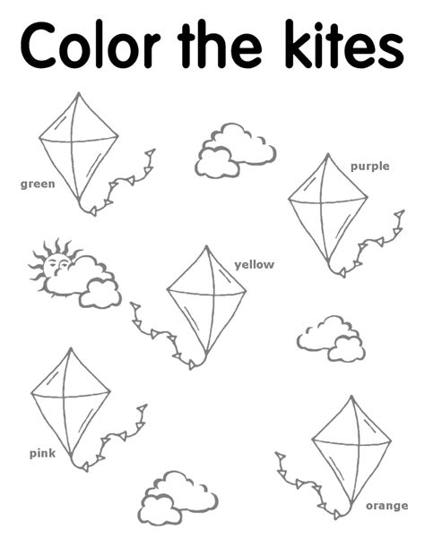 free weather for preschool coloring pages