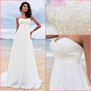 new white ivory a line chiffon beading beach formal With ivory beach wedding dresses