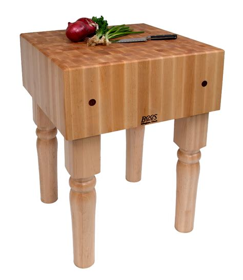 Kitchen Island With Chopping Block Top - john boos butcher block end grain maple block