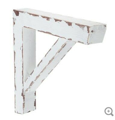 Style Corbels by Large Barn Style Corbels Brackets Distressed Antique White