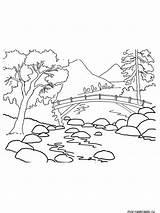 Coloring Mountain Berge Ausmalbilder Range Mountains Cartoon Kostenlos Nature Malvorlagen Ausdrucken Zum Results Template sketch template
