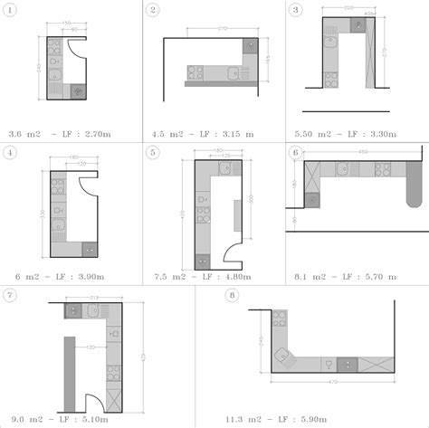 plan pour cuisine cuisine disposition en l kitchens architecture and