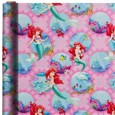mermaid gift wrap ft party city