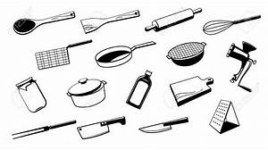 Outils De Cuisine : drawn kitchen cooking utensil pencil and in color drawn ~ Voncanada.com Idées de Décoration