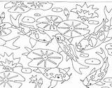 Coloring Pond Pages Lily Pad Animals Unique Printable Getcolorings Print Drawing Board sketch template