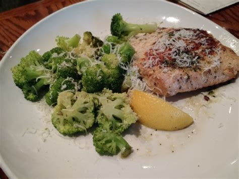 olive garden greenville sc herb grilled salmon with parmesan garlic broccoli