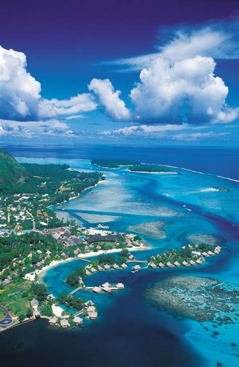 The Island Of Moorea Tahiti French Polynesia France