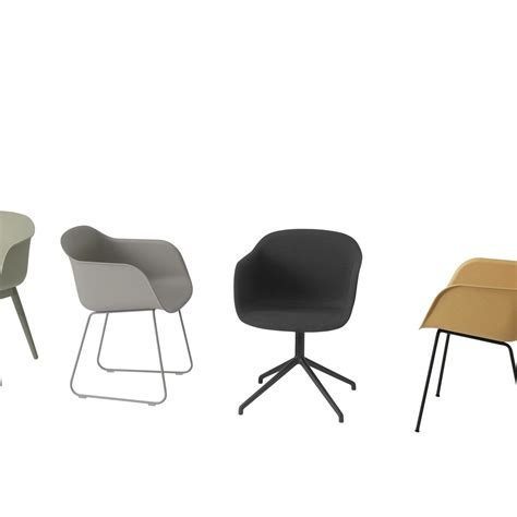 chaises pivotantes fiber chair chaise pivotante muuto ambientedirect com