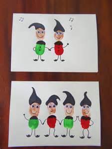 Fingerprint Christmas Cards Elves