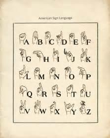 American Sign Language Chart Printable
