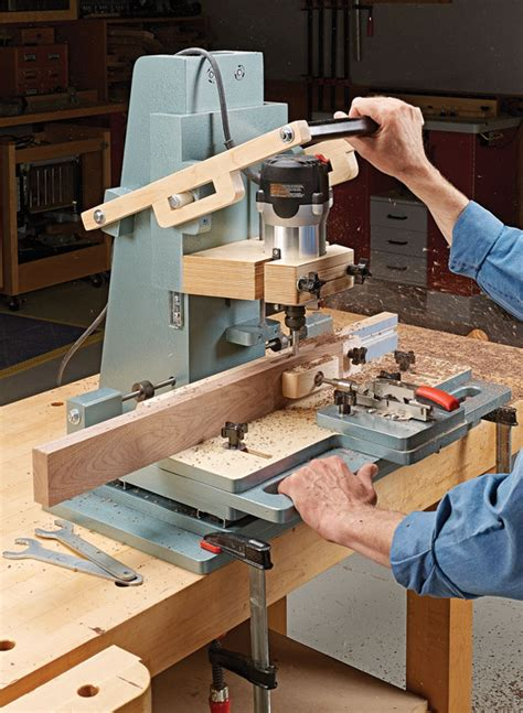 router mortising machine woodworking project woodsmith