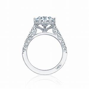 tacori engagement rings petite crescent diamond halo 061ctw With wedding rings tacori