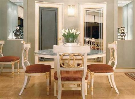 Charming Pedestal Rounded Dinette Table Set In White For 4