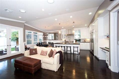 open living room kitchen designs open concept