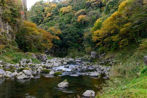 Gokase River At Takachiho Gorge On Miyazaki Stock Photo