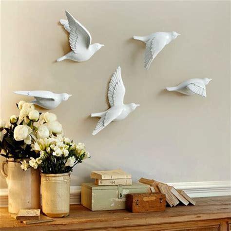 golden silver flying birds wall artd bird wall decor