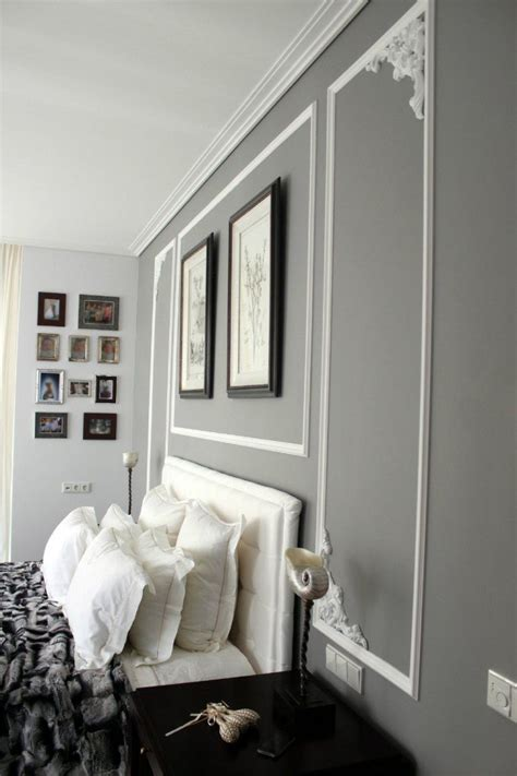 Wand Grau by Graue Wandfarbe Und Wei 223 E Stuckdekorationen An Der Wand