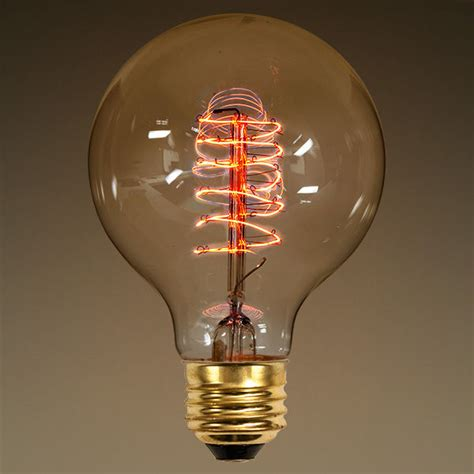 g25 vintage antique light bulb globe style 25w