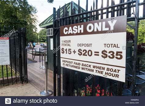 Central Park Rowboat Rental by Information Sign Central Park Nyc Stock Photos