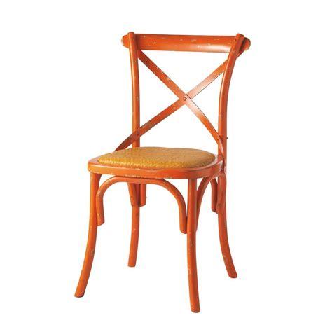chaises orange chaise en rotin naturel et bois massif orange tradition