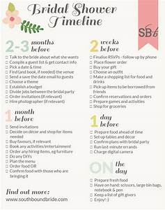southbound guide how to plan the perfect bridal shower With wedding shower checklist