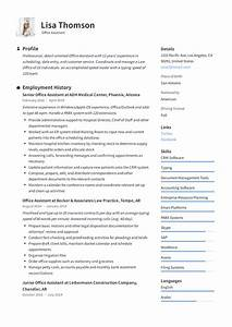 Recruiter Resume Summary Office Assistant Resume Writing Guide 12 Resume