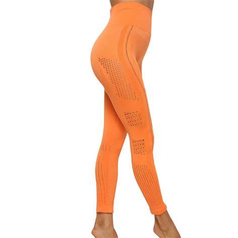 orange gym leggings wholesale custom private label
