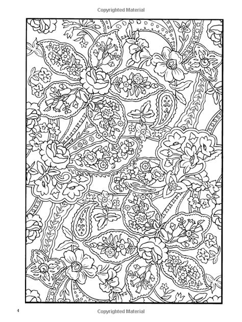 amazon com paisley designs coloring book dover design