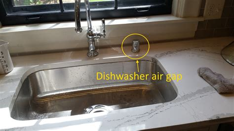 dishwasher air gap under sink dishwasher air gaps structure tech home inspections