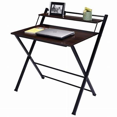 Desk Computer Tier Foldable Wood Office Folding