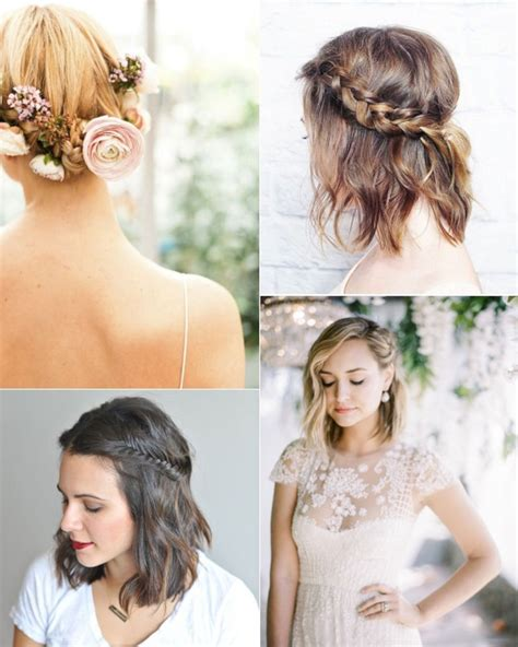 wedding hairstyles for brides with short hair oosile