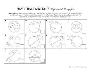 Tangents To Circles Worksheet  Kidz Activities